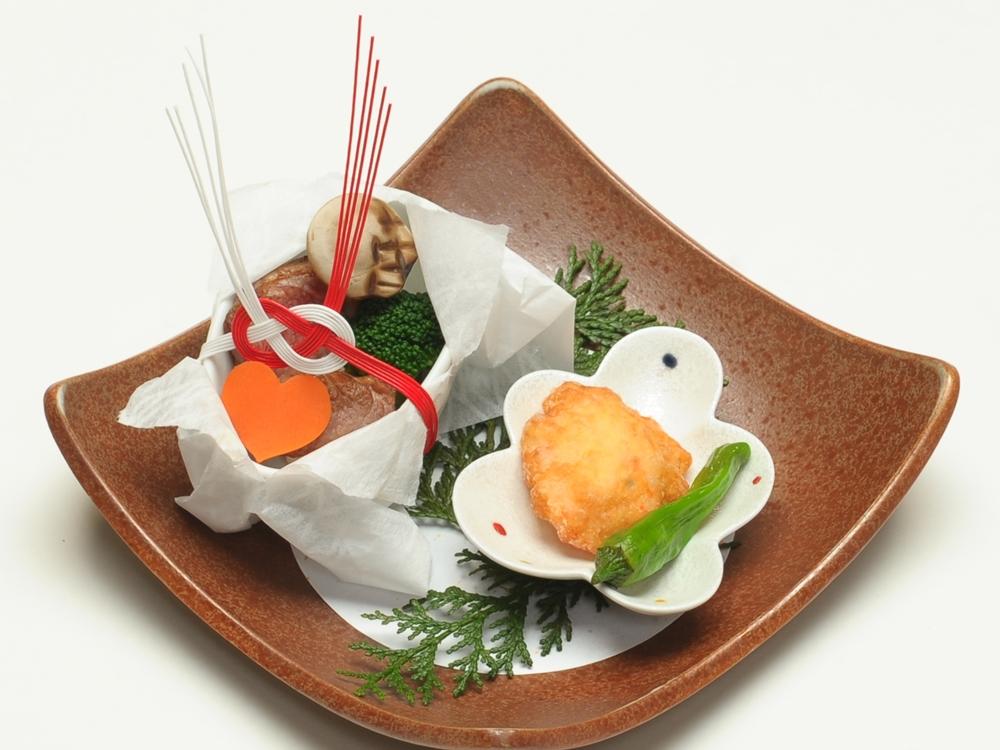 日本料理の家喜物は縁起良い奉書包みのサプライズ