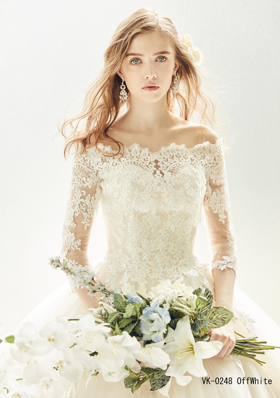 王道ロング袖×可憐レースで一生に一度の花嫁を